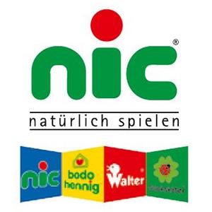 NIC Holzspielzeug Logo Hartfelder Marken- und Qualitätsspielzeug Hamburg