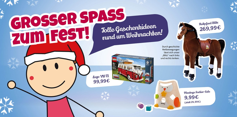 Spielzeug und Geschenkideen zu Weihnachten